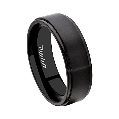 Black Stainless Steel Wedding Bands Sets His And Hers Princess CZ With His Wedding Ring Sets SPJ