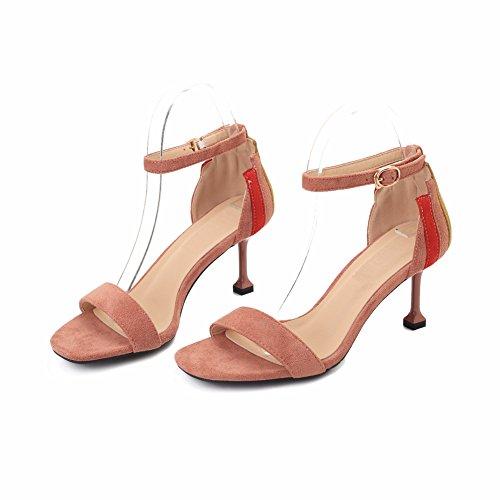 rose Sandales Femme Talon Ruiren Dames Bout Chat Chaussures Ouvert Talons Pour À 5cm Hauts pqwZHO