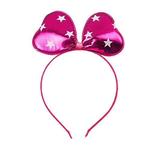 Leather Printed Headband Girls Kids Mermaid Fish Scales Ears Bow Hairband For Dance Party Hair Accessories Headdress 3 ()