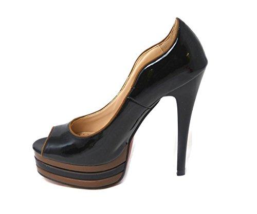 Mujer Zapatos Sintético De Para Vestir Black 1 0601 Sko's Material OwRPY