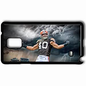 Personalized Samsung Note 4 Cell phone Case/Cover Skin 14617 peyton hillis by kirklandmclawrence d3h17y2 Black