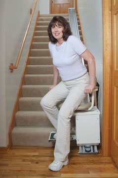 standing stair lift. Amazon.com: Free Lifetime Warranty! Wide Seat Stair Lift With A 350 Lb  Capacity, Up To 19 Feet Of Travel: Health \u0026 Personal Care Standing Stair Lift