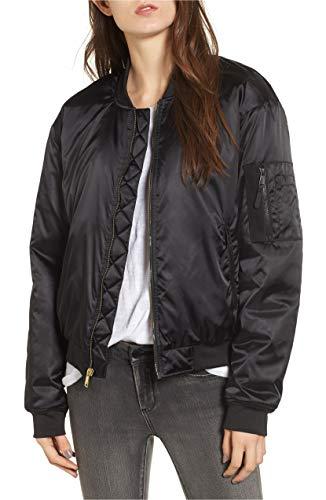 The North Face Women's Barstol Neoprene-Trimmed Bomber Jacket Black Large