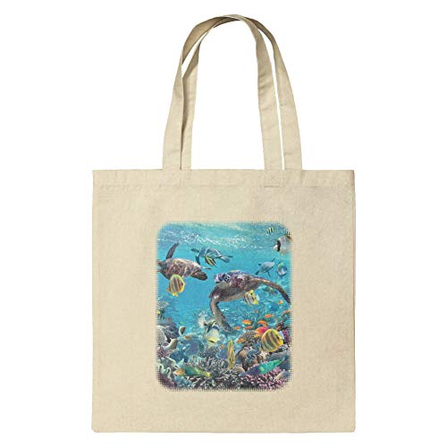 Reef Sea Tote Grocery Diving Coral Bag Ocean Travel Turtles Small Reusable F8B5wRnxqE