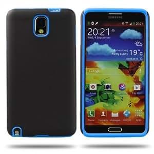 Matte Silicone Back Case For Samsung Note 3 N9000 --- Color:Blue