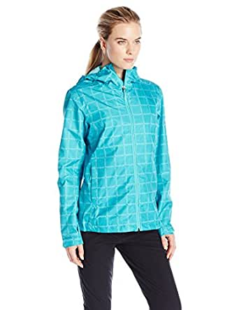 adidas Outdoor Women's 2 Layer Wandertag AOP Jacket, Vivid Mint, Medium