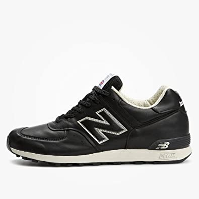 new balance black leather