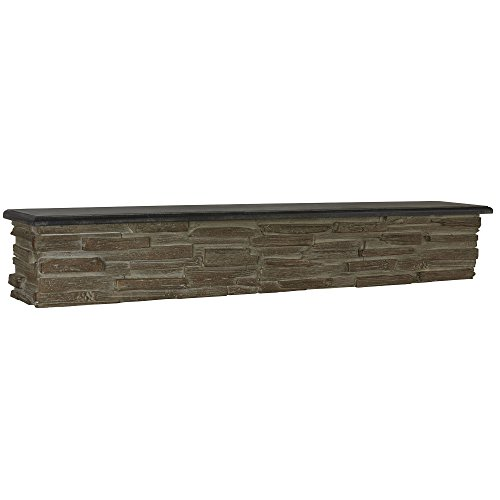 Household Essentials Decorative Floating Mounted Wall Shelf, Faux Stone by Household Essentials