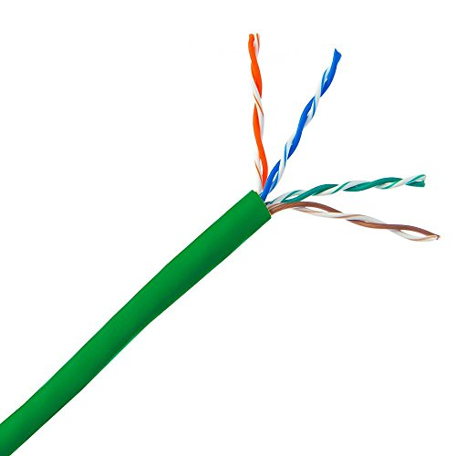 - GOWOS Bulk Cat5e Ethernet Cable - 1000 Feet, Green - Stranded UTP (Unshielded Twisted Pair) Pullbox