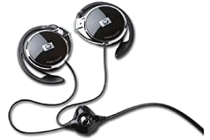 HP H2000 gancho de oreja Binaurale Alámbrico Negro - Auriculares (Alámbrico, gancho de oreja, Binaurale, Supraaural, 43 g, Negro)