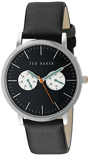 Ted Baker Men's TE1097 Smart Casual Round Black Multi-Function Green Hands Watch