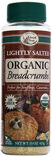 (Edward & Sons Organic Bread Crumbs, Light Salt, 15 Ounce)
