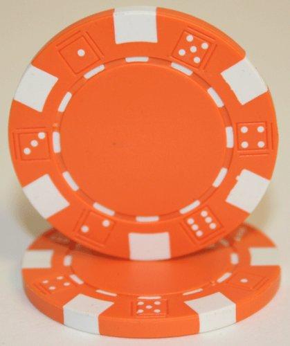 25 Orange Dice 115 Gram 2 Tone Poker Chips