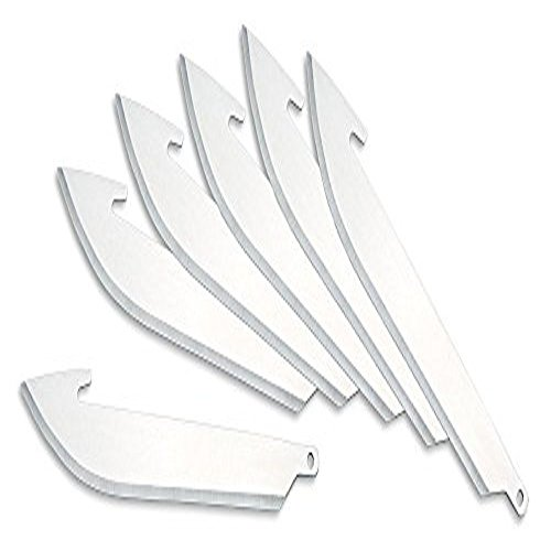Outdoor Edge, RR-6, Six Replacement Blades for 3.5 inch Razor Lite Knife Series - Edge Onyx