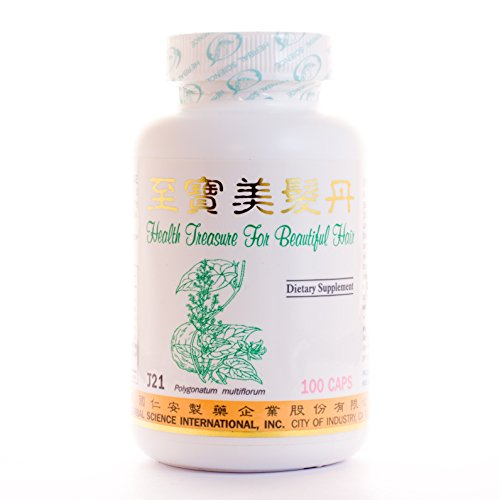 Health Treasure for Beautiful Hair Dietary Supplement 500mg 100 capsules (Zhi Bao Mei Fa Dan) J21 100% Natural Herbs