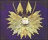 Egyptian Sunburst Necklace and Earring Set