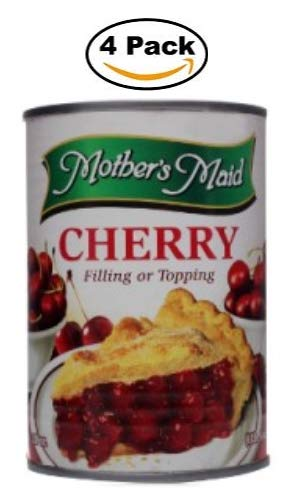 (Cherry Pie Filling & Topping (Pack of 4-15oz) 60 ounces Total - Makes 2 Cherry Pies)