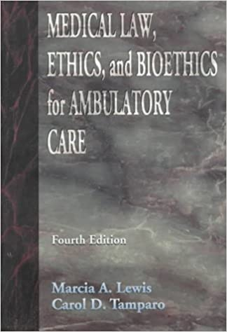 Book Medical Law, Ethics and Bioethics for Ambulatory Care