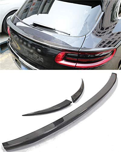 Porsche Rear Spoilers - Fandixin Macan Spoiler, 3PS Carbon Fiber Rear Trunk Deck Lip Boot Spoiler Wing for Porsche Macan 2014-2018