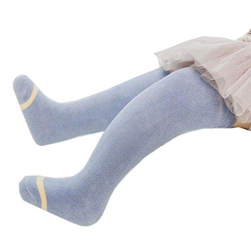 Lucoo Fashion comfortable soft Winter Children Cute Baby Toddler Girl Boy Soft Leggings Warmer Leg Socks (S(0-2years), Blue)