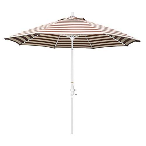 California Umbrella 9 Round Aluminum Pole Fiberglass Rib Market Umbrella