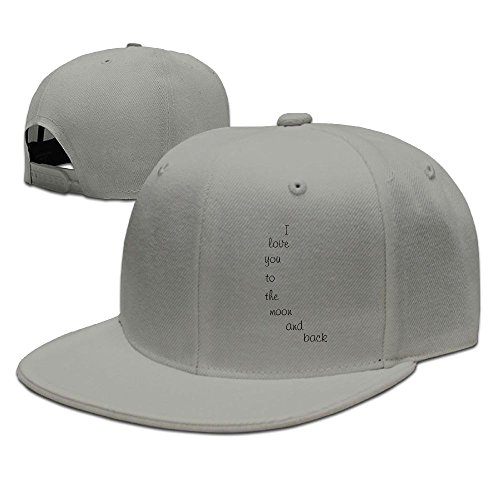 ZhiqianDF Men's Yellow Moon Nursery Wall Decal Casual Style Baseball Ash Hats Adjustable Snapback (Ultra Zoom Ball)
