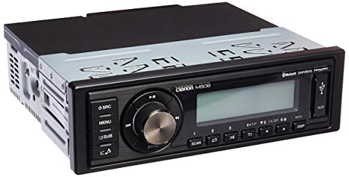 Clarion M508 Single-din In-dash Marine-grade Digital Media Receiver With Bluetooth Black