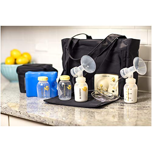 Medela Pump in Style Advanced with On the Go Tote, Double Electric Breast Pump, Nursing Breastfeeding Supplement, Portable Battery Pack, Sleek Microfiber Tote Bag included with Breastpump by Medela (Image #4)