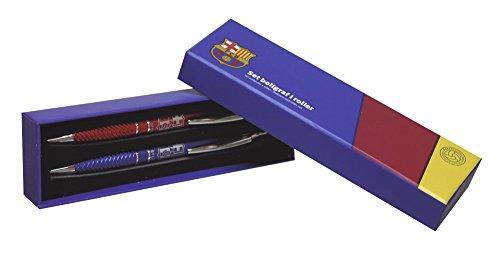 Futbol Club Barcelona - Set boligrafo y Roller Juvenil en Caja Regalo (CYP Imports SET-26-