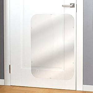 PETFECT Door Scratch Protector Premium Dog Door Cover for Interior & Exterior Use – Clear (35.5 x 24)