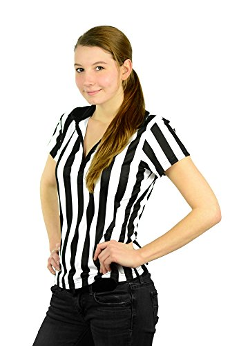 Mato & Hash Women's 1/4 Zip-Up Quarter-Zip Referee Short Sleeve Ref Tee Shirt CA1500 XL]()