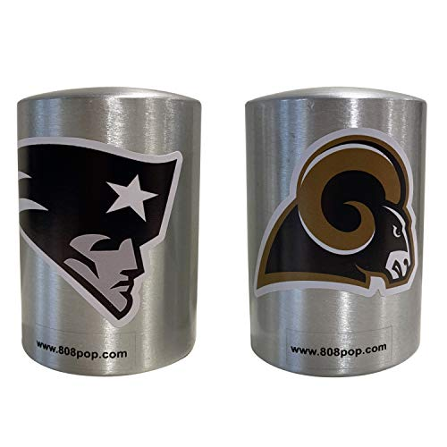 - 808 Pop Automatic Push Down Bottle Opener with NFL Logo Stickers, Set of 2