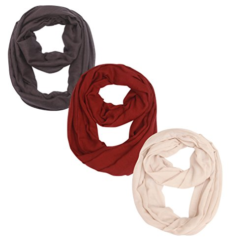 (Women Lightweight Infinity Scarf Loop - Printed Soft Light Thin For Spring Summer 2018 New Design Fashion Scarfs Ideal Gift)