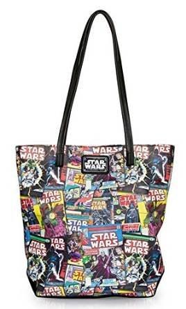 Amazon Com Star Wars Color Comic Print Faux Leather Tote Bag Shoes