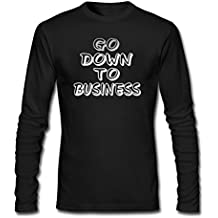 KUYUE Men's Go Down To Business Funny T-Shirt