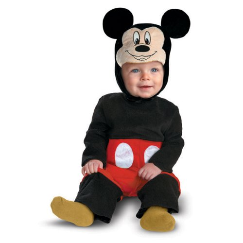 Disguise My First Disney Mickey Costume, Black/Red/White, 6-12 Months]()