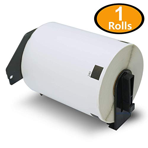 BETCKEY - 1 Rolls Compatible Brother DK-1240 102mm x 51mm(4 x 2) 600 Shipping/Barcode Labels Per Roll with Refillable Cartridge