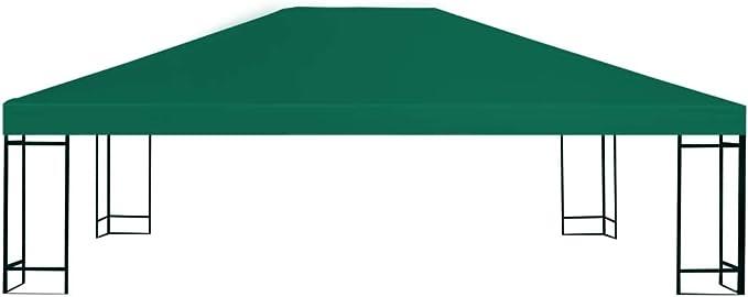 Festnight- Toldo de Cenador Toldos para Jardin Verde 4 x 3 m con Revestimiento de PVC (Impermeable): Amazon.es: Hogar