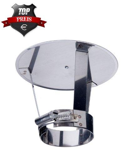 Kopfabdeckung mit Kragen Edelstahl DN 120 mm Abgasrohr Schornstein TOP PREIS!