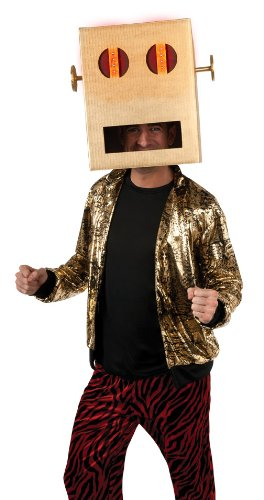 Lmfao Shuffle Bot Halloween Costume (LMFAO Shuffle Bot Headpiece With Led Light, Brown, One Size)