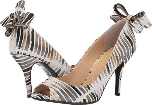 J.Renee Women's Ellasee Pump (Cream/Black/Gold, 10 M US)