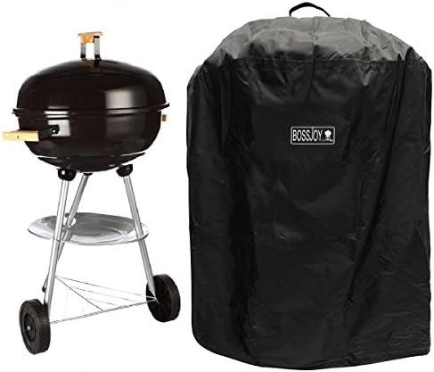 Grill abdeckhaube, Abdeckung Haube Wasserdicht Schutzhülle Kugelgrill für BBQ Kugelgrill Gasgrill Grill Barbecue Cover (Rund 69 * 87H cm)