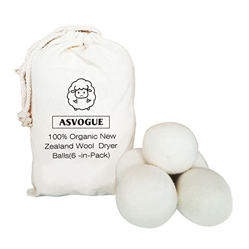 Wool Dryer Balls XL 6 Pack, All Natural Laundry Wool Dryer Ball, Reusable Fabric Softener Dryer Balls, Reduces Wrinkles and Drying Time Dryer Ball