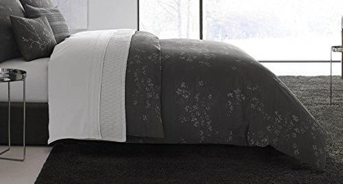 Vera Wang Floral Comforter Set, Queen, Charcoal