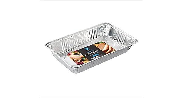 Cuatro temporada rectangular grande desechables papel de aluminio para horno/bandeja para horno/bandeja Pack de 2: Amazon.es: Hogar