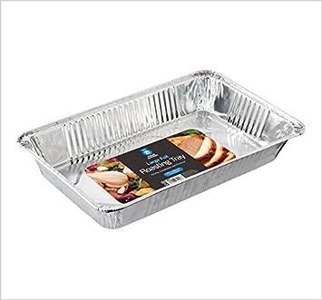 Cuatro temporada rectangular grande desechables papel de aluminio para horno /bandeja para horno/bandeja