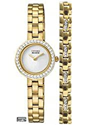 Citizen Women's EX1082-69A Eco-Drive Silhouette Crystal Watch & Bracelet Gift Set