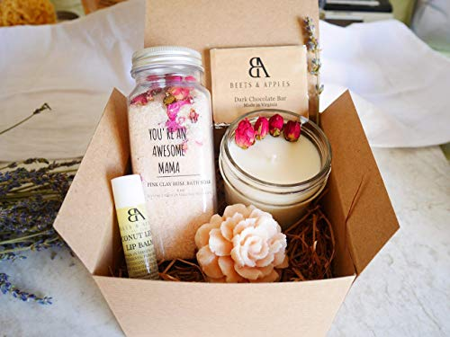 Mom Birthday Gift Set, Spa Gifts Basket for Mom, Relaxation Spa Gift Set