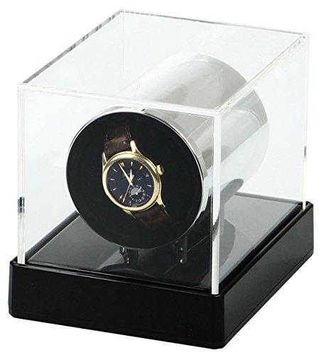 Temotus - Rotador de relojes de pulsera, automático, almohadilla adaptable, color negro acrílico: Amazon.es: Hogar