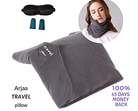 Arjaa Comfortable Pillow Neck Chin Support Airplane Pillow Nap